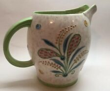 Bursley Ware Pitcher Charlotte Rhead England Jug Green Art Deco Signed Vtg C1