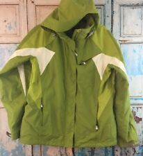 LANDS END WOMENS Winter COAT Shell SIZE Medium (10-12) Green White