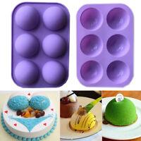 6 Half Sphere Ball Silicone Cake Chocolate Mould Birthday Cake Decor Baking Tool