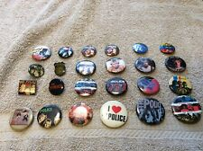 1980's The Police Pinback Rock & Roll Button Collection Sting 24 Pinback Enamel