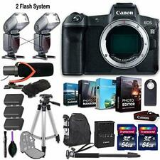 CanonEOS R Mirrorless Camera (Body Only) + 2 Flash System w/ Accessory Kit