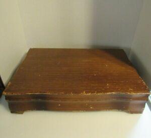 Wood Box Case Wooden Flatware Storage Chest Silverware Silverplate Sterling VTG