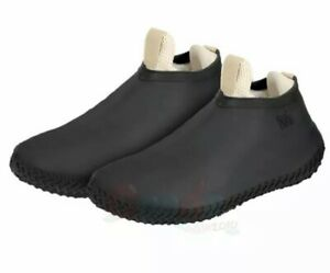 Kids SIlicone Black Waterproof Over Shoes Shoe Covers Rain Protector Cover Sz S