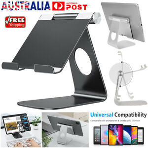 Universal Foldable Aluminum Tablet Mount Holder Stand For iPad iPhone Samsung AU