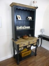 Handmade Farmhouse Kitchen Dresser In Black