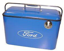 Ford Vintage Beverage Cooler New 5 Gallon Blue W/ Built In Bottle Opener