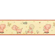 Childrens / Nursery, Baby Animals Wallpaper Border (18cm wide x 10m long)