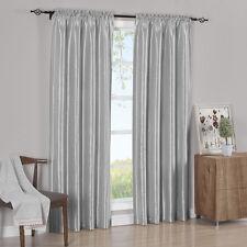 Pair Curtain Panels Elegant  Soho Faux Silk 100% Polyester (Set of 2)