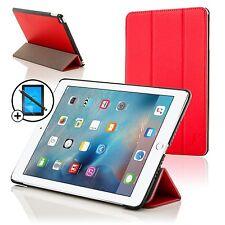 Piel Rojo Plegable Smart funda para Apple iPad Pro 12.9 Protector De Pantalla