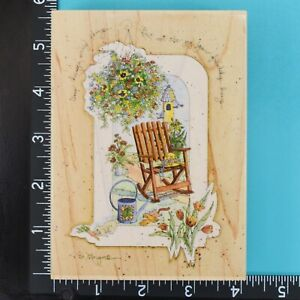 Time Changes Many Things Friendship Poem Flowers Stamps Happen Rubber Stamp