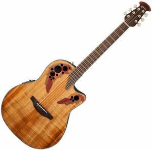 Ovation Celebrity Elite CE44P-FKOA, Mid-Depth Cutaway Acoustic Guitar