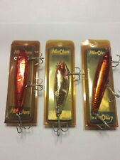 3 Vintage MirrOlures Assorted Styles NOS Free Shipping