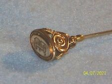 Antique 14kt Gold Victorian Hat Pin Stick Pin - Engraved B