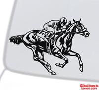 HORSE RACING THOROUGHBRED RUNNING Vinyl Decal Sticker Car Window Wall Bumper