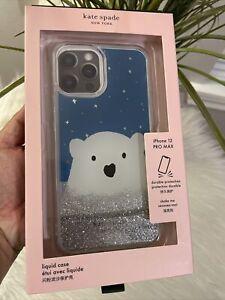 NIB KATE SPADE Arctic friend Polar Bear iPhone 12 Pro Max Liquid CASE Gift