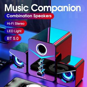 Wireless Bluetooth LED PC Computer Speakers Home Theater System Laptop Subwoofer