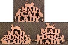 MAD IN LEGNO MDF gatto/cane/coniglio/LADY/forma/Segno/Stencil