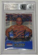 Bas Rutten Signed 2012 Finest UFC Bloodlines X-Fractor Card Beckett COA Gem Mint