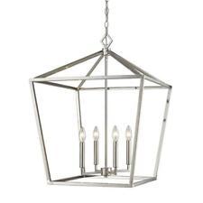 Millennium Lighting 4-Light 20 in. Wide Taper Candle Satin Nickel Pendant