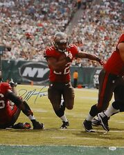 Doug Martin Autographed 16x20 Vertical Running Photo- JSA W Authenticated