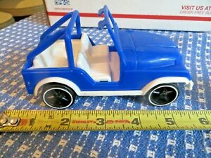 RARE Vintage 1970s Gay Toys # 379 JEEP,  Blue & White, W/ Roll Bar  Nice