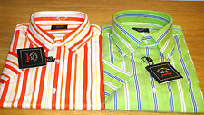 Paul&Shark Striped Cotton Short Sleeve Men's Casual Shirts & Tops