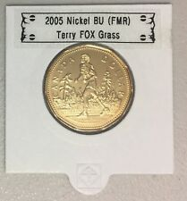 CANADA 2005 New Loonie 25th the marathon of hope Terry Fox GRASS (BU From roll)