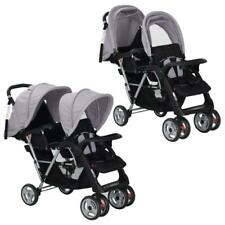Baby Toddler Double Tandem Folding Pusher Stroller Pram Seat Buggy 6-36 Months