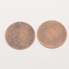 Metal Stamping Blanks Copper Stamping Blanks Blank Round Charm Circle Pendants