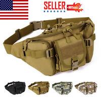 Men Nylon Waist Fanny Pack Hip Bum Tactical Military Travel Hiking Belt Bag NEW