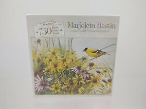 Marjolein Bastin Life In Full Bloom 750 piece puzzle Milton Bradley Goldfinches