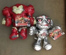 NEW Marvel Avengers: Age of Ultron Hulkbuster & Ultron Talking Plush Figures