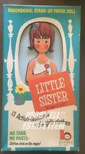 "1963 BLAISE PUBLISHING ""LITTLE SISTER"" PAPER DOLL IN ORIGINAL BOX CLOTHES UNCUT"