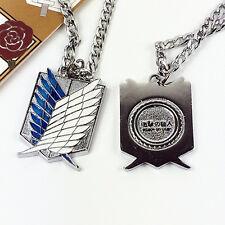 Attack on Titan Shingeki no Kyojin Levi Scouting Recon Necklace Blue/White #07