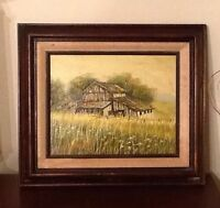 Vintage D. MINCHEW Signed Oil Painting 8 x 10