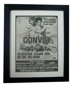 CONVOY+KRISTOFFERSON+MOVIE+FILM+POSTER+AD+ORIGINAL 1978+FRAMED+FAST+GLOBAL SHIP