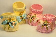 NEWBORN Crochet Baby Girl  baby's booties baby BOOTS shoes handmade
