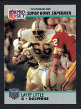 Larry Little #66 signed autograph auto 1990 Pro Set Football Trading Card