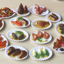 AG_ 18Pcs 1:12 Scale Dollhouse Miniature Food Dish Bowl Tableware Plate Set Toys