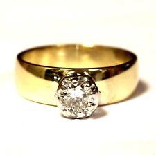 14k yellow gold .40ct SI2 H round diamond 8 prong engagement ring 5.2g estate