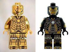 Custom Designed Minifigure 2 x Ironman Gold & Mark 41 Printed On LEGO Parts