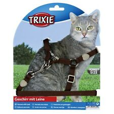 Trixie 41891 Cat Set of Harness and Lead Nylon 26-37 cm / 10 mm lead 1.2m