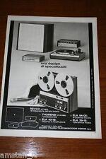 AU18=1972=REVOX GIRADISCHI STEREO REGISTRATORE=PUBBLICITA'=ADVERTISING=WERBUNG=