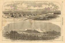 Civil War, Rebel Camp, Centerville, VA. Bull Run, Manassas, RR, Antique, Print,