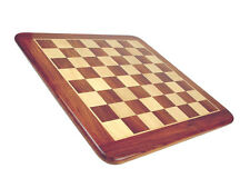 "Narrow Border Flat Wooden Chess Board 23"" Solid Sheesham/Maple. Sq. Size 2-1/2"""