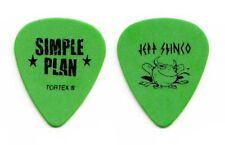 Simple Plan Jeff Stinco Green Tour Guitar Pick