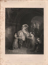 1853 impresión VICTORIANO ~ ~ Lady Godiva G. Jones