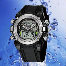 Ohsen AD0721 Watch Multifunction Digital & Analogue Water Resistant Sport Silver