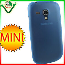 2x Pellicola+custodia 0,3mm ultra sottile Azzurra per Galaxy S3 Mini Value i8200
