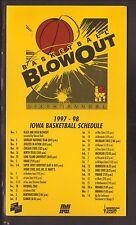 Iowa Hawkeyes--1997-98 Basketball Magnet Schedule